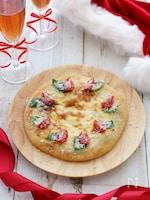ポリ袋で作る、ホワイトクリスマス☆ピッツァ