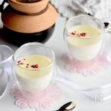 チンして恋する♥ピーチ&アーモンドミルク♥ホットチョコレート