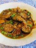 茄子のカレー味噌炒め