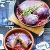 ハロウィンのおもてなしにぴったり!紫キャベツで作るロールキャベツ