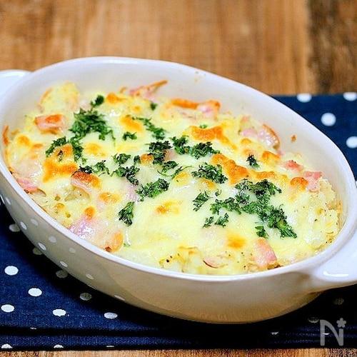 レンジでパパッと「ポテトのシンプルチーズ焼き」