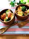 ぜーんぶレンチン♡ブロッコリーとソーセージと卵のホットサラダ