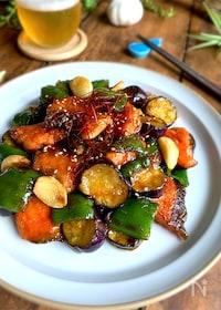 『ごはんがすすむおいしい味【塩鮭と夏野菜のにんにく甘照り】』