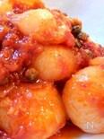 ヴィネガーをきかせた小玉ねぎのトマト煮