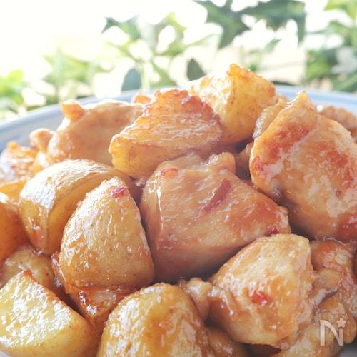 胸肉柔らか♪ピリ辛美味*鶏胸肉と新じゃがの麻婆風炒め