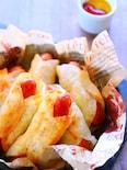 餃子の皮で簡単アレンジ!もちもちポテトのウインナー巻きレシピ