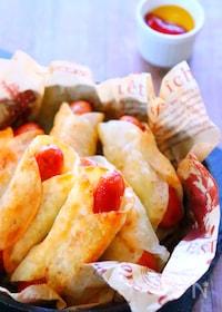 『餃子の皮で簡単アレンジ!もちもちポテトのウインナー巻きレシピ』