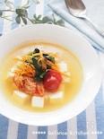 韓国冷麺風  豆腐の冷製スープ 火不使用。