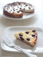 豆腐クリームでつくるブルーベリーのベイクドチーズケーキ風