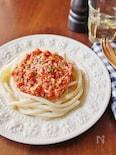 トマトとツナのイタリアンうどん