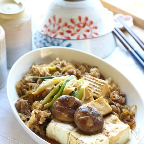 【献立いろいろつゆ】味付け簡単!肉豆腐