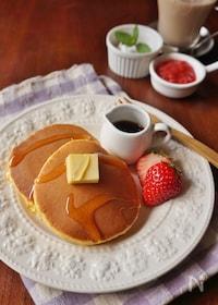 『朝食に!ニンジン&ヨーグルト入りヘルシーパンケーキ』