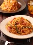 玉ねぎとウインナーのマヨソテーパスタ【#作り置き #お弁当】
