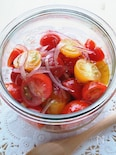 トマトと玉ねぎのさっぱりマリネ~朝食やお肉の付け合わせに~