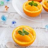 【簡単おやつ】材料3つ!オレンジまるごとゼリー