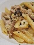 豚バラ肉と白菜の豆乳ミルフィーユの翌日リメイク料理:パスタ