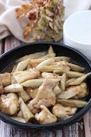 ご飯もビールも進むおかず♡鶏肉とごぼうの生姜照り炒め煮