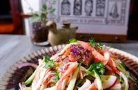 【作り置き】茄子ときゅうりとカニカマごま酢