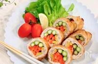 【15分で晩ごはん】カラフル野菜のロールカツ