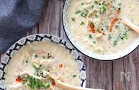 冷凍餃子で楽々♡豆乳坦々餃子スープ
