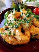 鶏ささみのステックから揚げ★ちょっ甘めのカレー・マヨソース