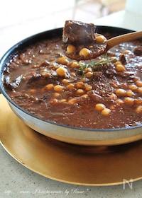 『ローズマリーと豆のウフ・ブルギニヨン風鍋 』