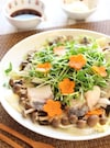 鱈と豆苗の簡単レンジ蒸し。
