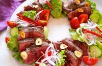 ガッツリ食べてもヘルシー!赤身ステーキのバルサミコソース