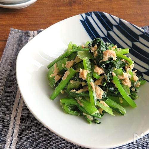 簡単和総菜◎小松菜とツナマヨだし醤油☆作り置きにも◎