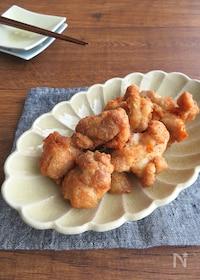 『お肉やわらか☆カラッとジューシー♪鶏もも肉の明太子マヨ唐揚げ』