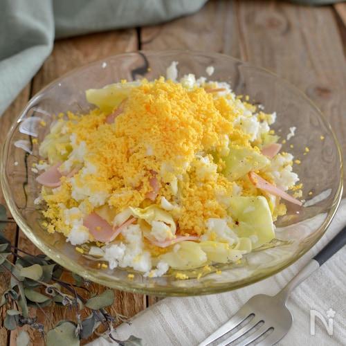 春キャベツのミモザサラダ。パーティーやおもてなしの前菜に♪