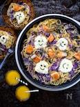 ワイワイ楽しく☆鮭と紫キャベツのバター醤油パスタ!