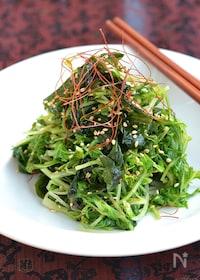『シャキシャキ♪水菜とわかめナムル 【作り置き】』