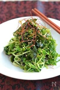 シャキシャキ♪水菜とわかめナムル 【作り置き】