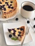 ホットケーキミックスで♪ブルーベリーチーズケーキタルト