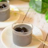 黒豆の煮汁活用☆豆乳プリン♪