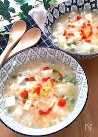 『5分でできる♡ふわふわ豆腐とトゥルンワンタンの食べる酸辣湯』