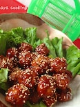 親子遠足‼弁当おかず1☆肉団子の甘酢あん