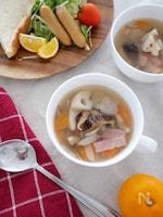 【10分でつくる】しいたけと根菜のスープ