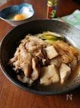 豚肉で作る!すき焼き風肉豆腐