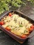 カレースパの茄子チーズ焼き