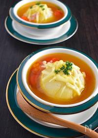 『新玉ねぎの丸ごと!コンソメスープ』