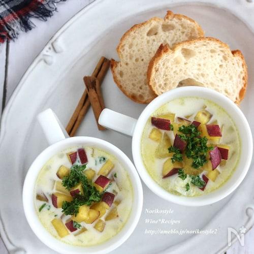 さつまいもの食べるスープ