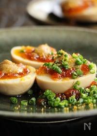 『味付けたまごの卵のせ』