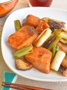 【簡単】鮭とねぎのバターポン酢炒め