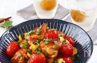 鶏もも肉とズッキーニとトマトのさっぱり甘辛梅てりやき