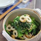 香りやうまみたっぷり♡小松菜のゆかり和え