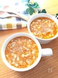 一番簡単な作り方♡坦々ごまスープ(包まないワンタン入り)