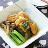 がんもどきと秋野菜の煮もの