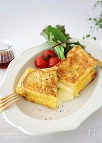 『ワンパンde簡単♡人気の韓国屋台風♪たまご&チーズトースト』